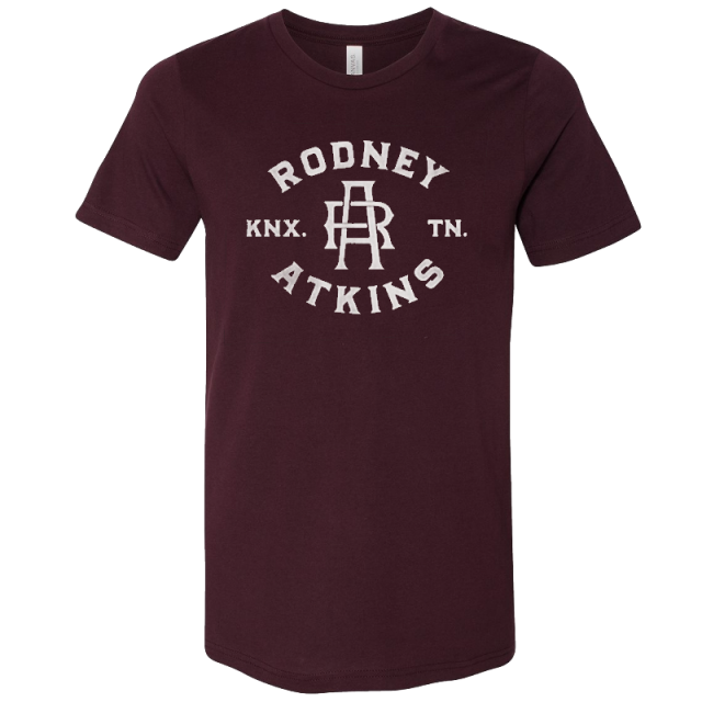 Rodney Atkins Oxblood Black Logo Tee